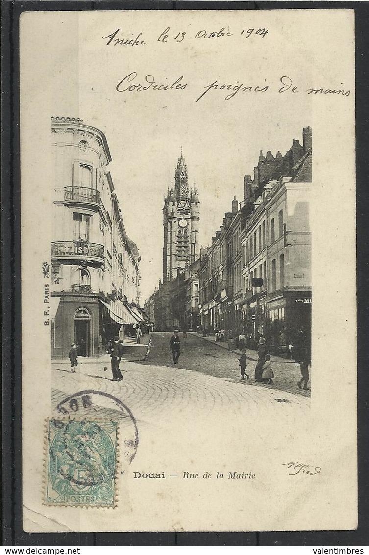 Douai (59 ) Ref 14 Recto Verso  Beffroi Rue De La Mairie - Douai