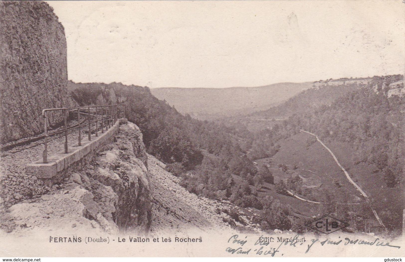 Doubs - Fertans - Le Vallon Et Les Rochers - Francia