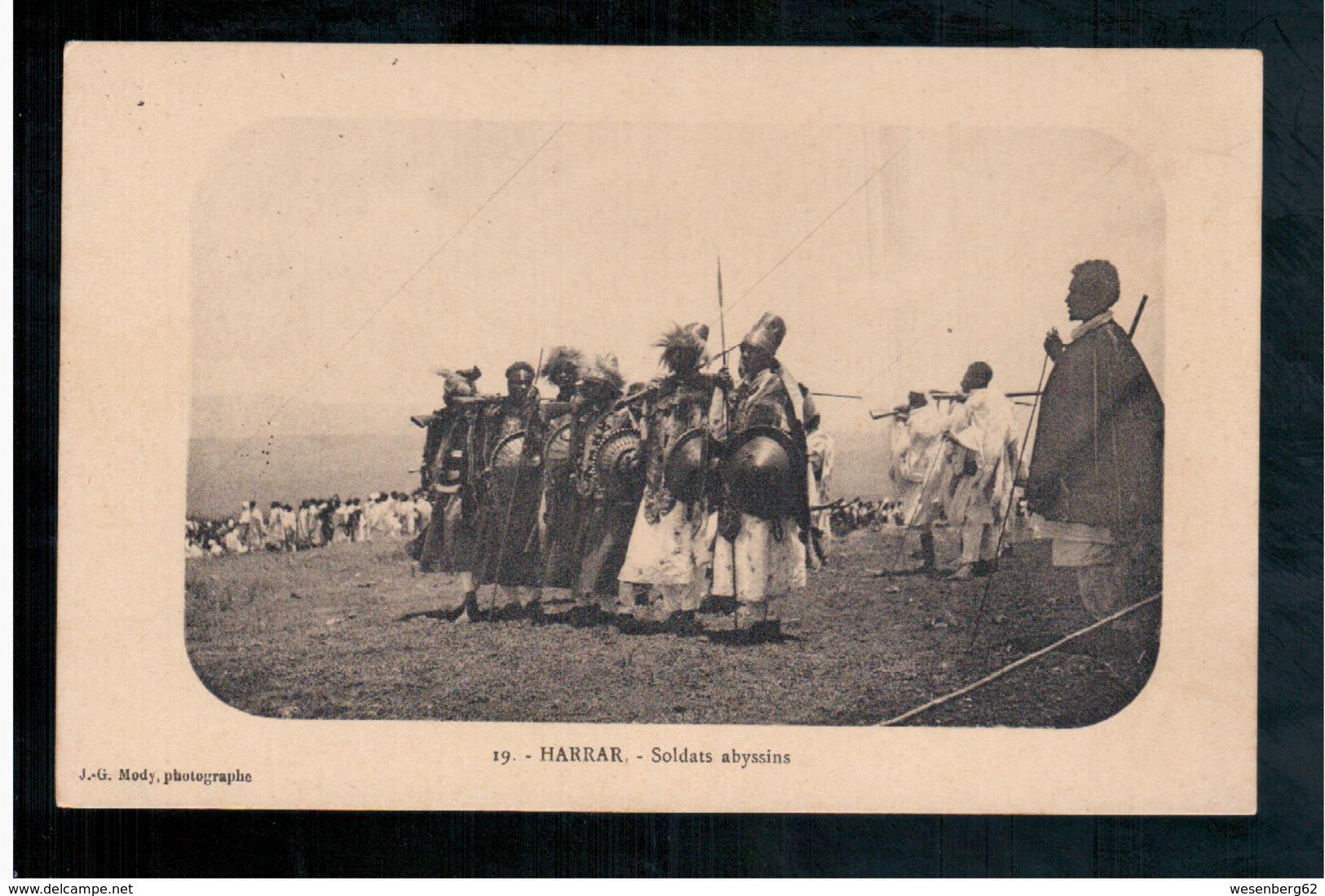 ETHIOPIE Harrar - Soldats Abyssins (Editeur Mody) Ca  1905 OLD  POSTCARD - Ethiopia