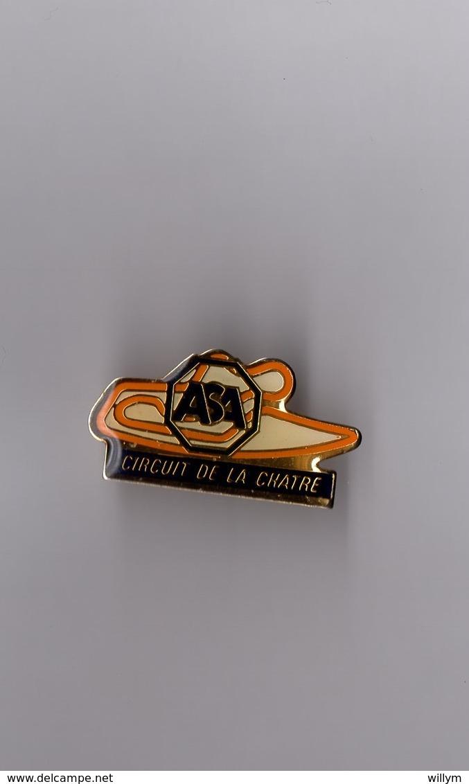 Pin's Circuit Automobile Et Moto De La Châtre (ASA Association Sportive Automobile) époxy Longueur: 3,1 Cm - Automobile - F1