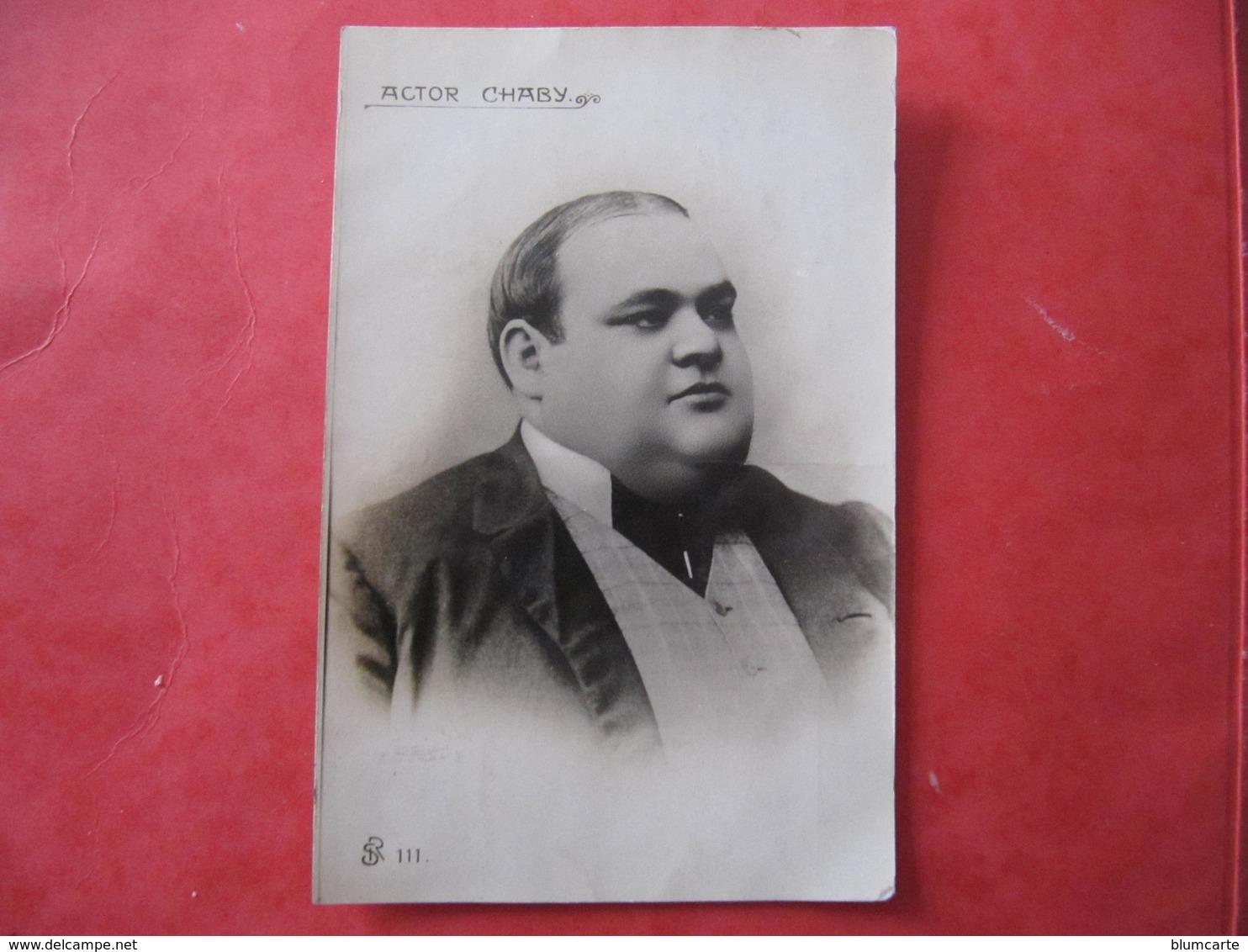 CPA - AUTOGRAPHE - CHABY PINHEIRO - ACTEUR -  Dédicacée Au Dos à CHABERT - Autographs