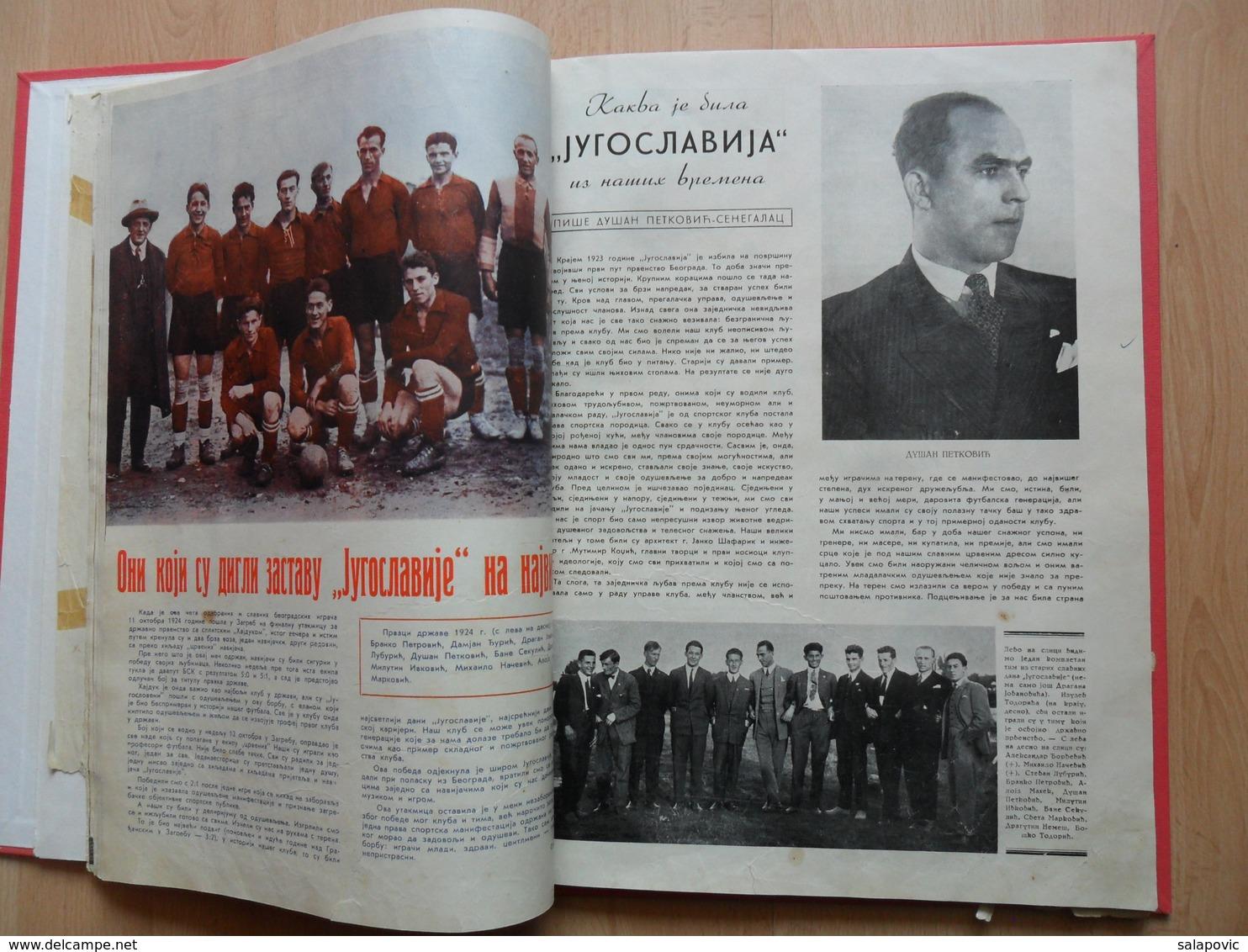 Cetvrt Veka Sportskog Kluba Jugoslavije 1913 1938  S.K. JUGOSLAVIJA - Libros