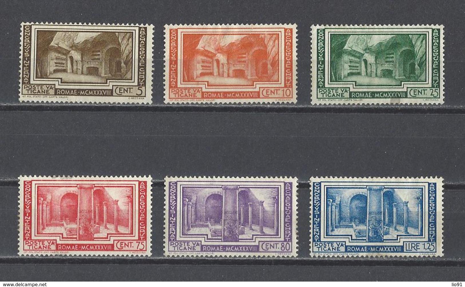 VATICAN.  YT   N° 80/85  Neuf *  1938  (voir Détail) - Vatican