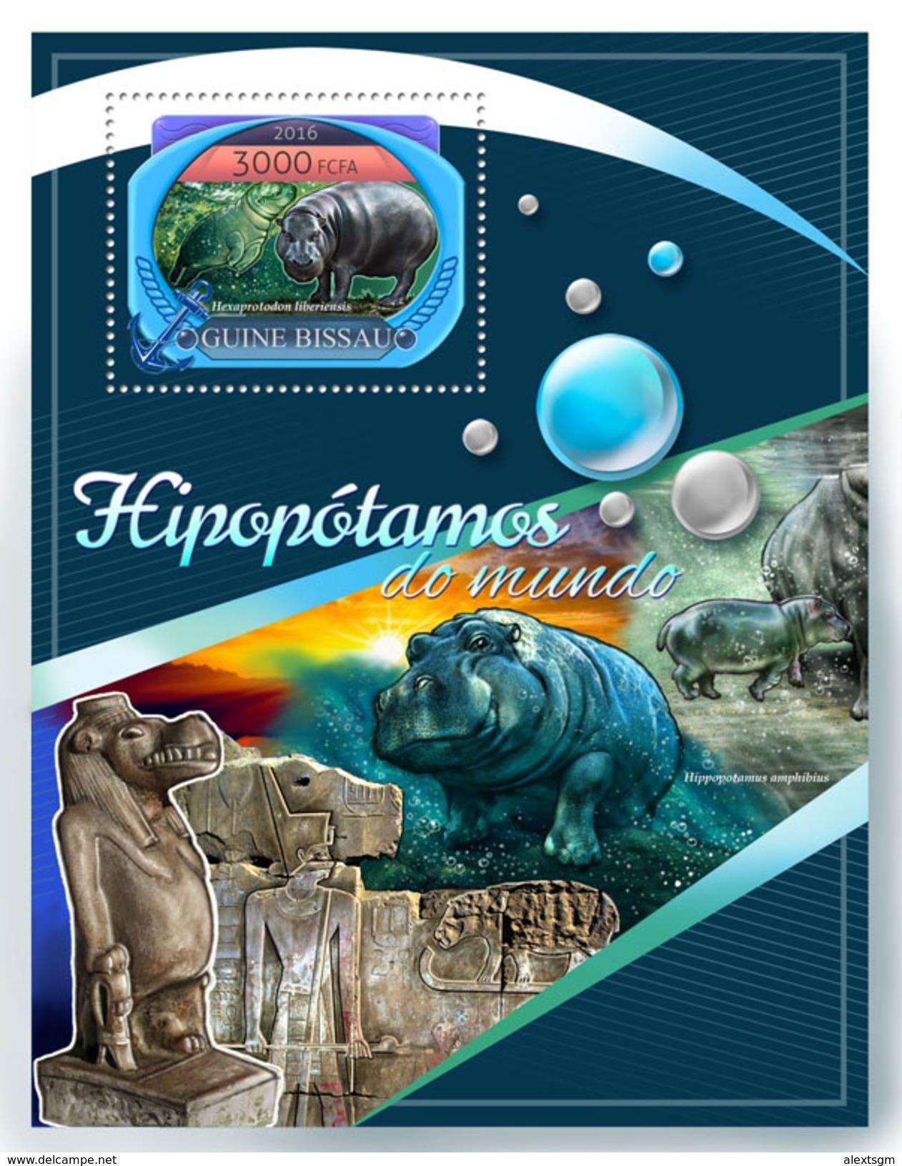 GUINEA BISSAU 2016 - Hippopotamus, Egyptology - YT BF1259 - Egyptologie