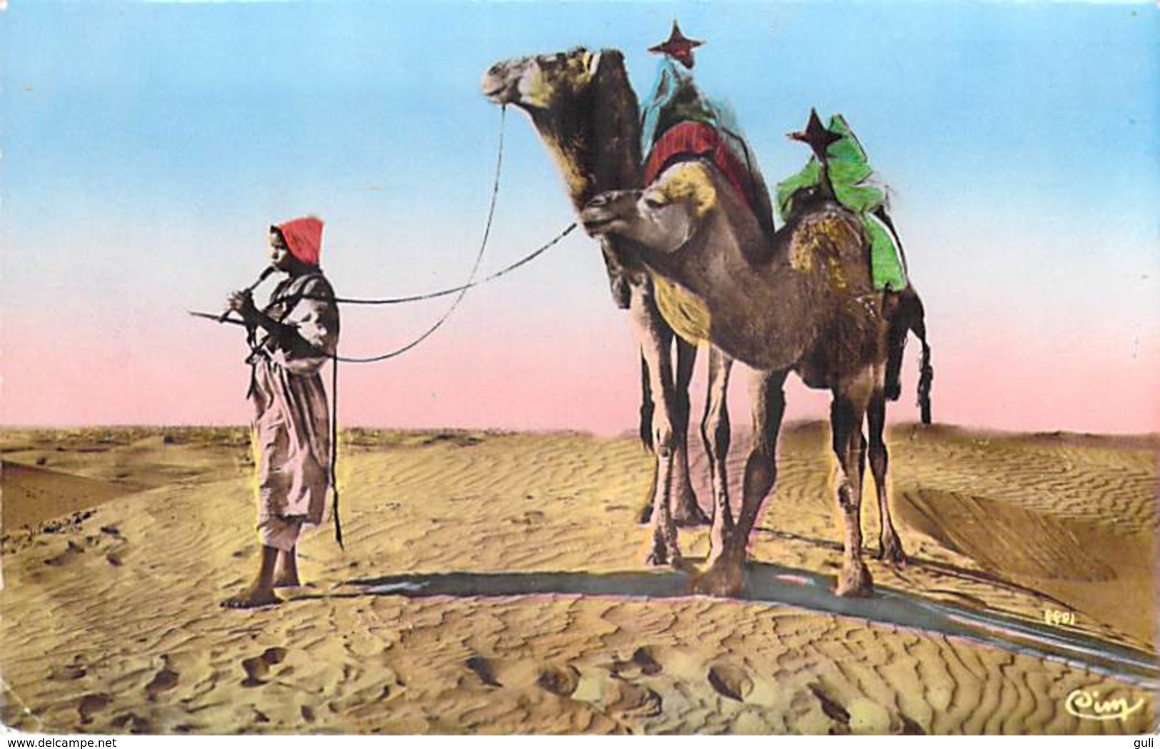 Algérie Collection Artistique L'Afrique-MUSICIEN (musique) (CIM Combier Cliché R.PROUHO 1099)*PRIX FIXE - Scènes & Types