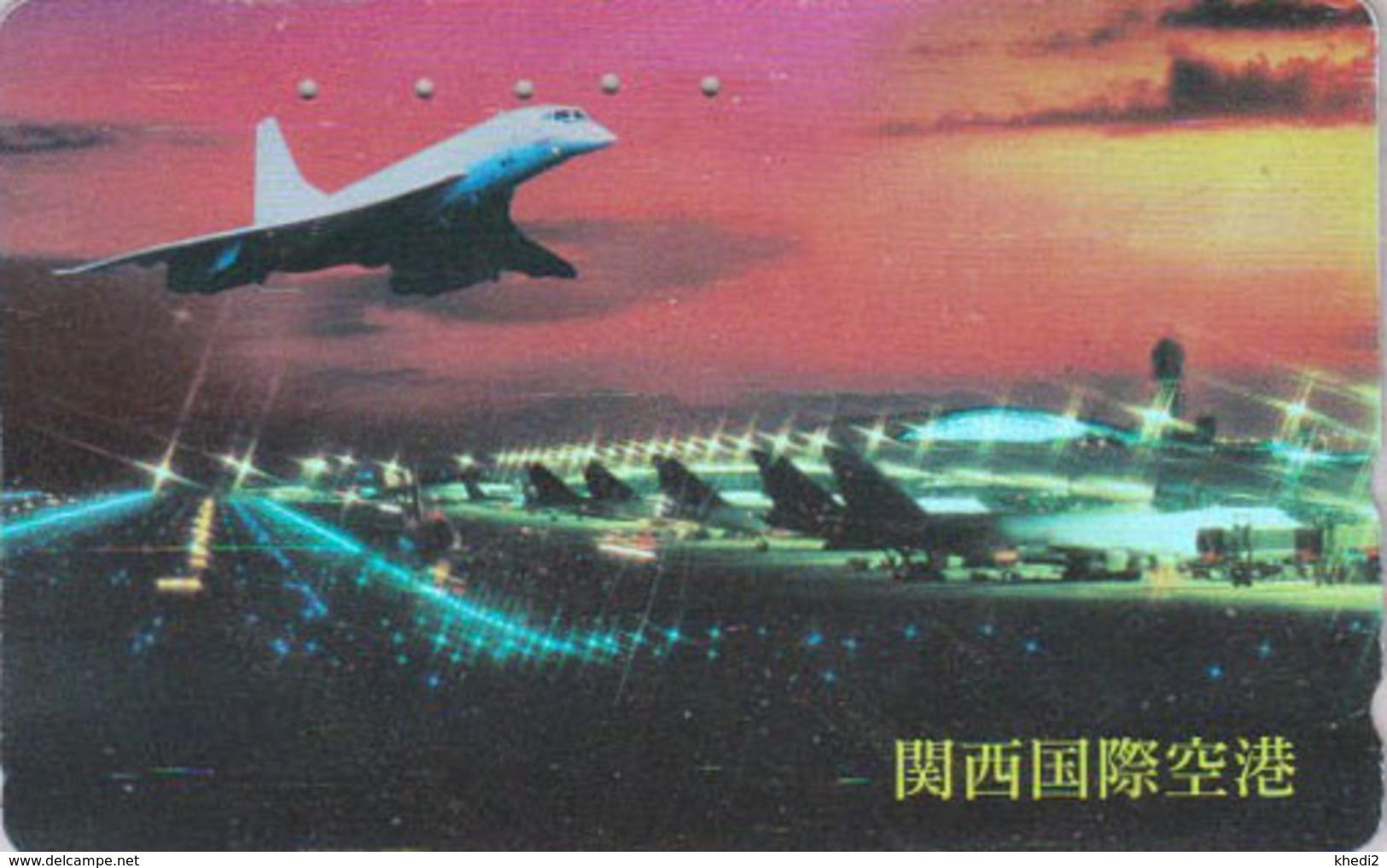 Télécarte Japon / 110-011 - AVION CONCORDE - PLANE AIRLINES Japan Phonecard - FLUGZEUG - Aviation 2243 - Avions