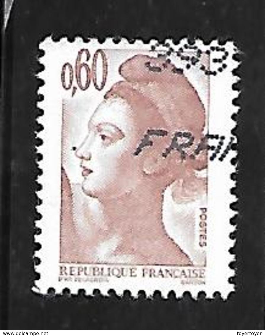 Fg178  Liberté De Gandon N°2239a Sans Phosphore Obl. - 1982-90 Liberté De Gandon