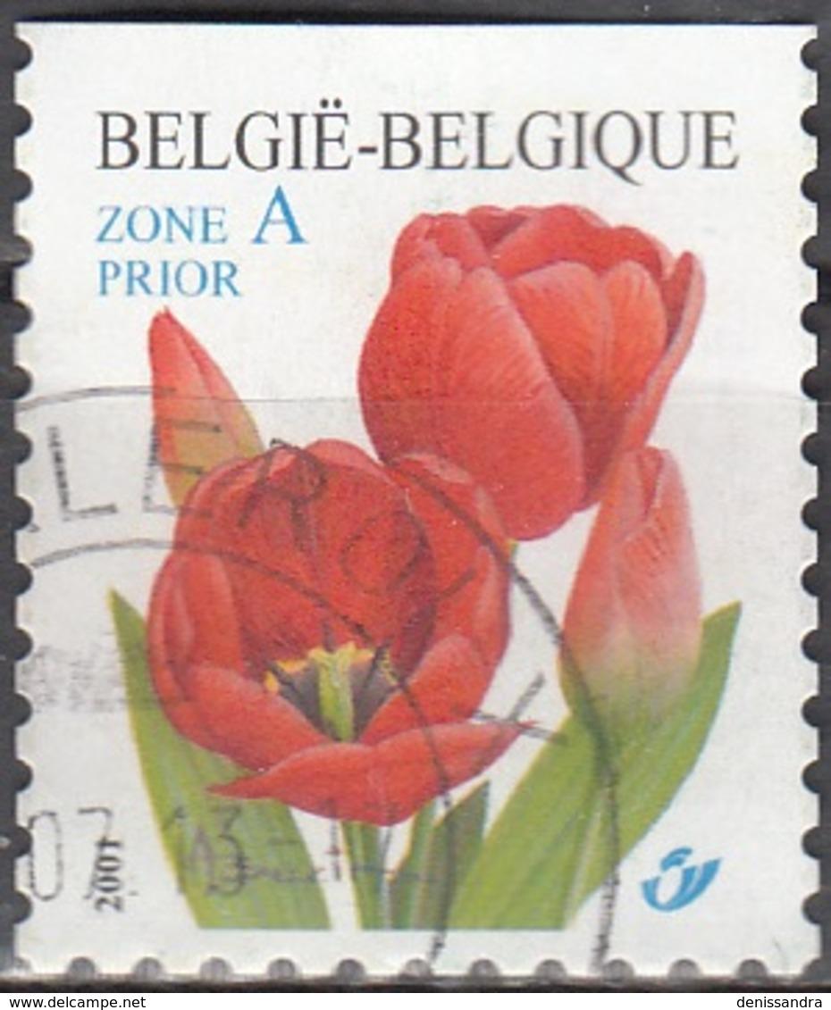 Belgique 2001 COB 3047 O Cote (2016) 2.25 Euro Tulipe Rouge Cachet Rond - Gebraucht