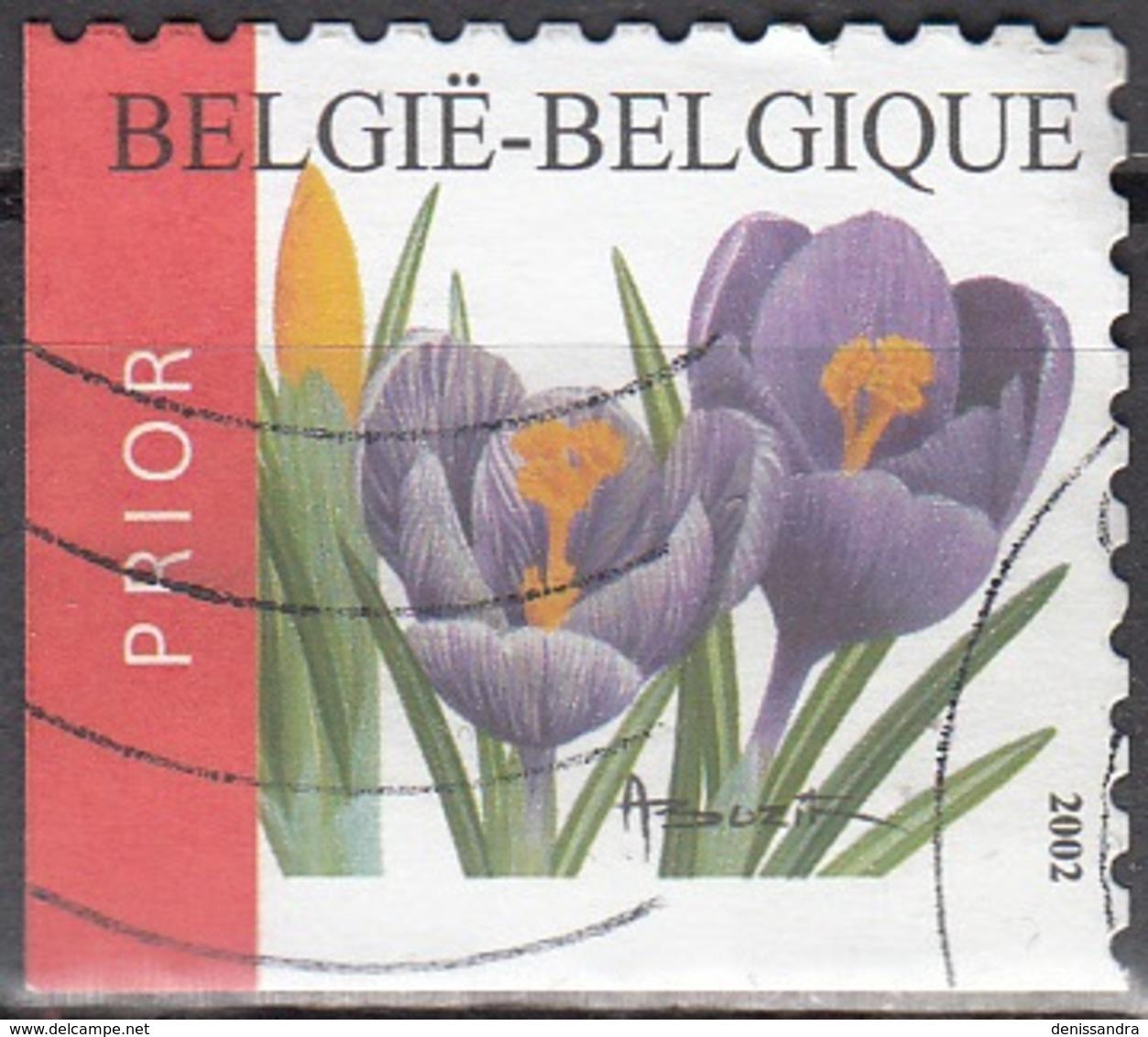 Belgique 2002 COB 3141A O Cote (2016) 2.60 Euro Crocus Cachet Rond - Belgien