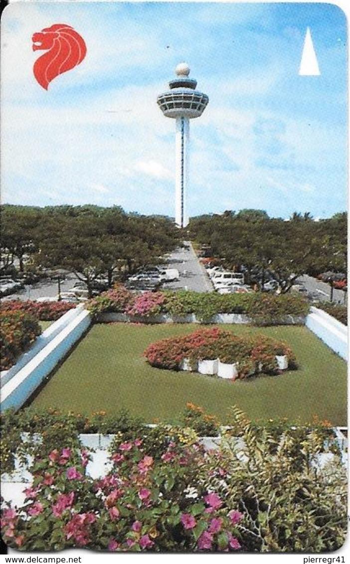 CARTE-MAGNETIQUE-1990 -10$-SINGAPOUR-PAYSAGE-TBE - Singapour
