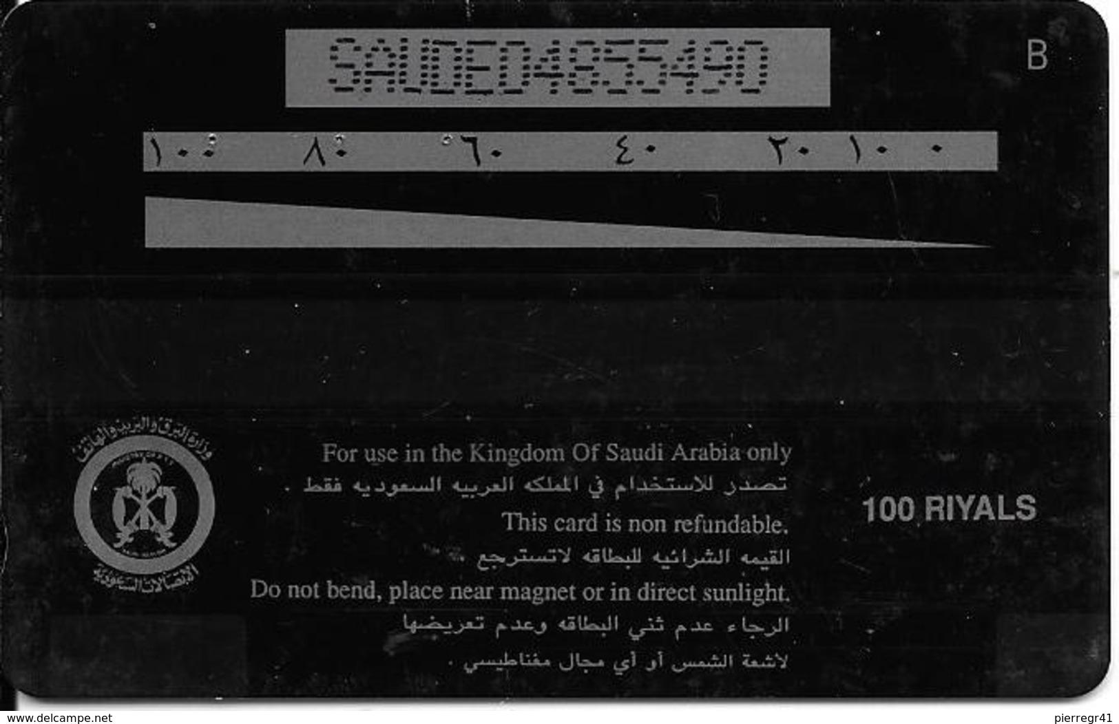 CARTE-MAGNETIQUE-ASIE-ARABIE SAOUDITE-100 Riyals--BE - Arabie Saoudite