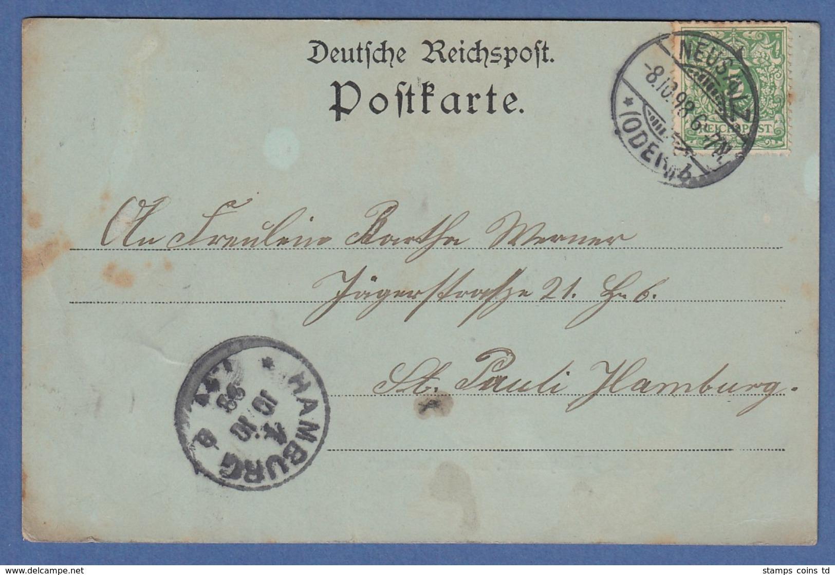 AK Gruss Aus Neusalz A. O. Kirche Der Brüdergemeine Schwesternhaus Gelaufen 1898 - Allemagne