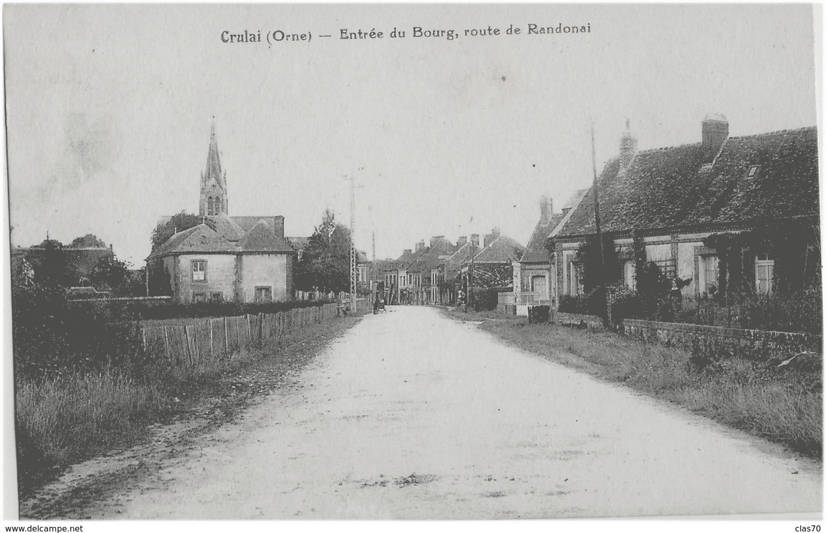 CRULAI - ENTREE DU BOURG, ROUTE DE RANDONAL - VERS 1900 - Autres Communes