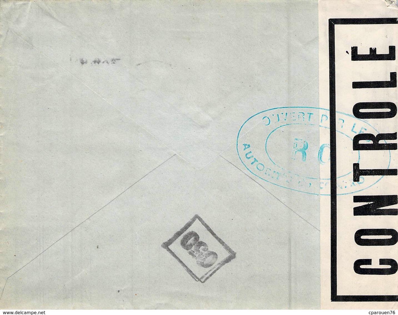 Enveloppe Publicitaire GRAINETERIE A LA PENSEE MAISON BOUILLARD 57 RUE HENRY ELBEUF TIMBRES FLAMME - Alimentare