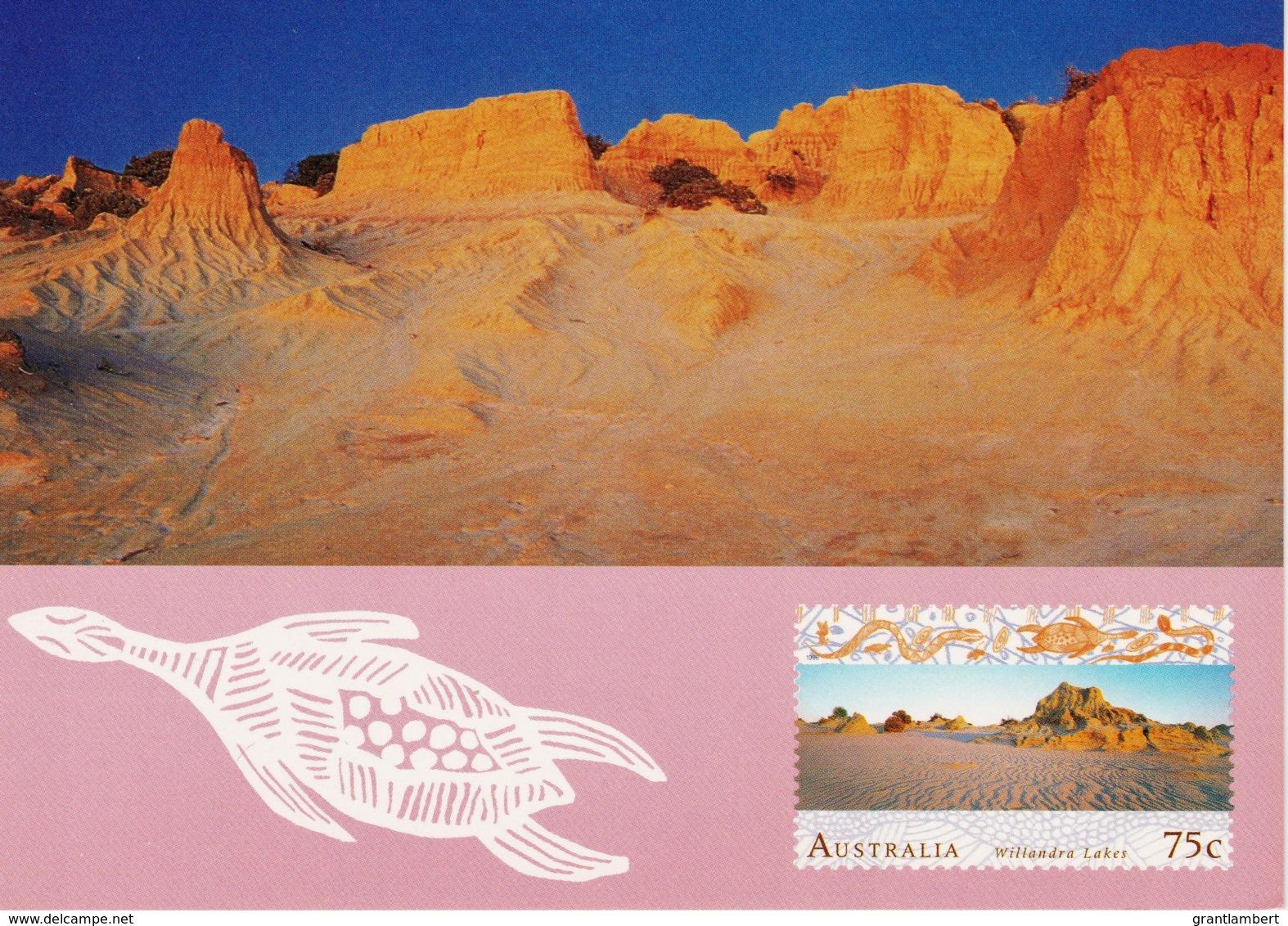 Willandra Lakes, Mungo National Park, New South Wales - Unused Prepaid Postcard - Australie
