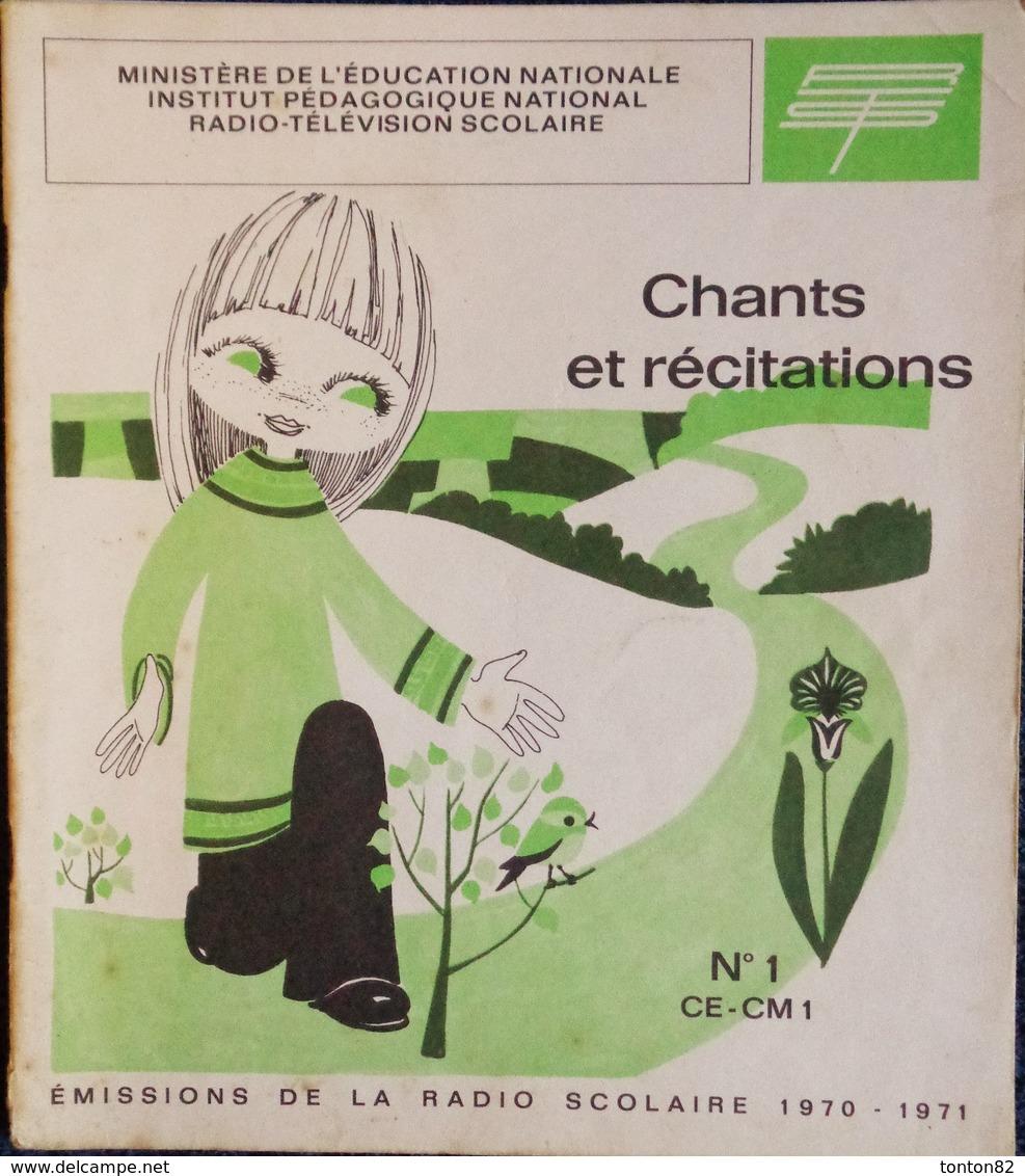 Chants Et Récitations - Émissions De La Radio Scolaire - Lot De 3 Livrets . - 6-12 Jahre