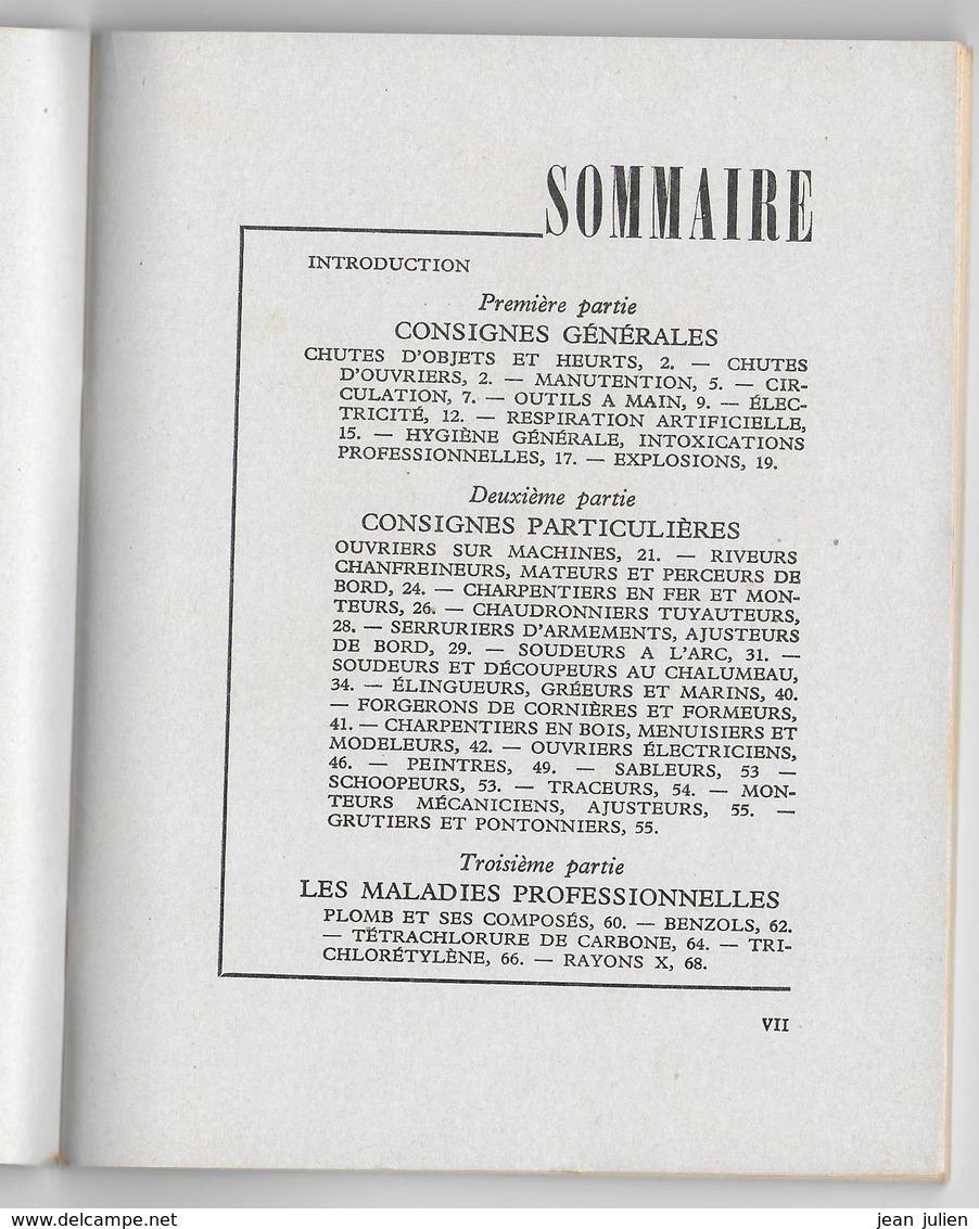 MILITARIA -  Secrétariat D'Etat à La MARINE - Consignes De Sécurité - 1953 - Books
