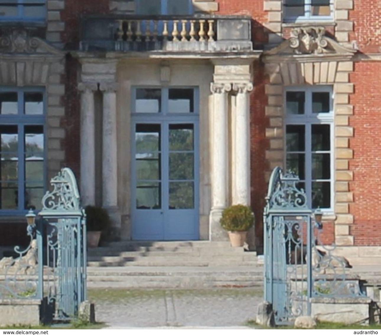 Belle Carte Photo Château De La Grange Yerres Hôpital Militaire 223 Poilus Soldats Infirmières Guerre 14-18 WWI - Guerre 1914-18