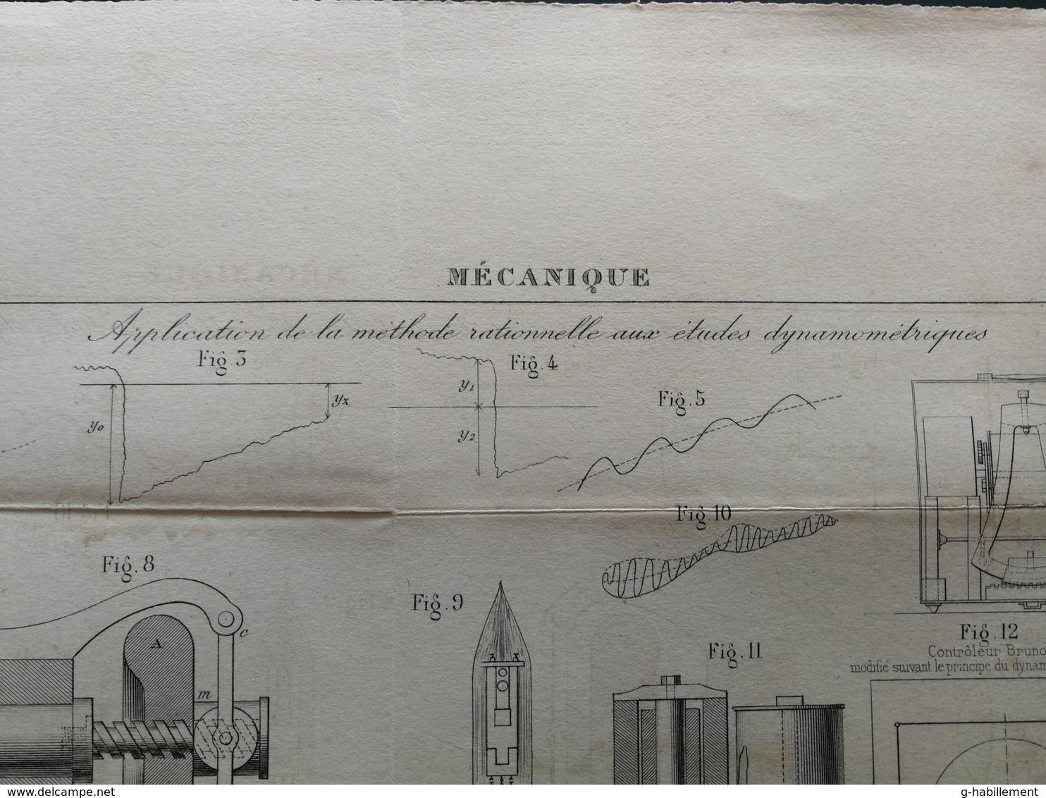 ANNALES DES PONTS Et CHAUSSEES - Mécanique - Gravé Par Macquet - 1886 (CLD17) - Machines
