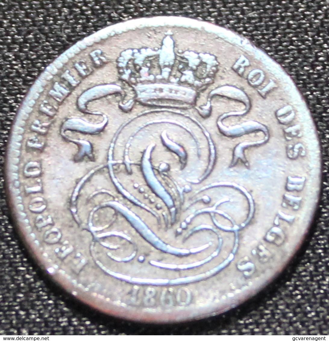 BELGIE LEOPOLD I 1 CENT 1860  MOOIE STAAT   2 SCANS - 1831-1865: Léopold I