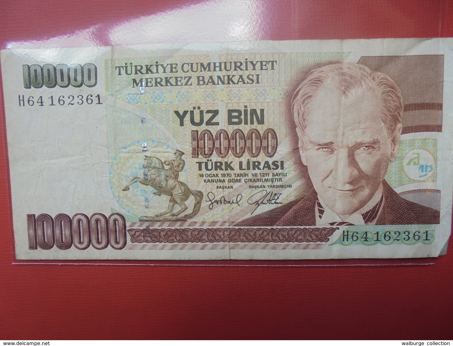 TURQUIE 100.000 LIRASI 1970(97) CIRCULER - Turquie