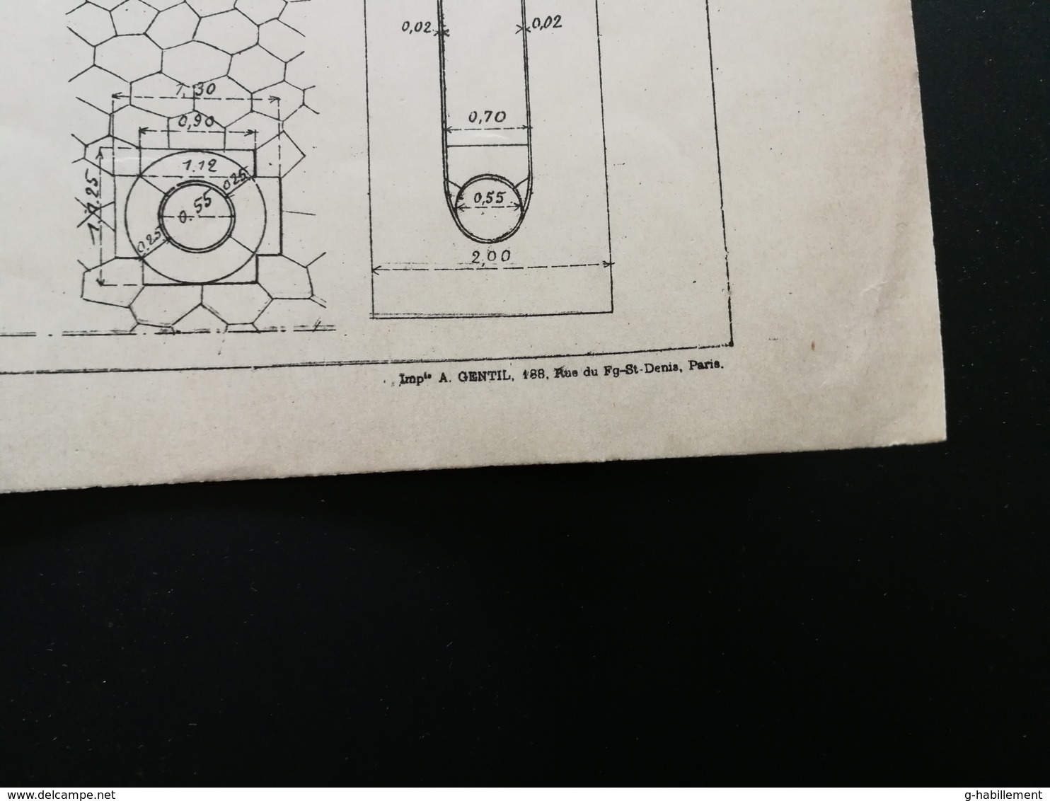 ANNALES DES PONTS Et CHAUSSEES (Dep 75) - Plan De Construction De Ports Droits à Paris- Imp A.Gentil 1912 (CLD55) - Cartes Marines