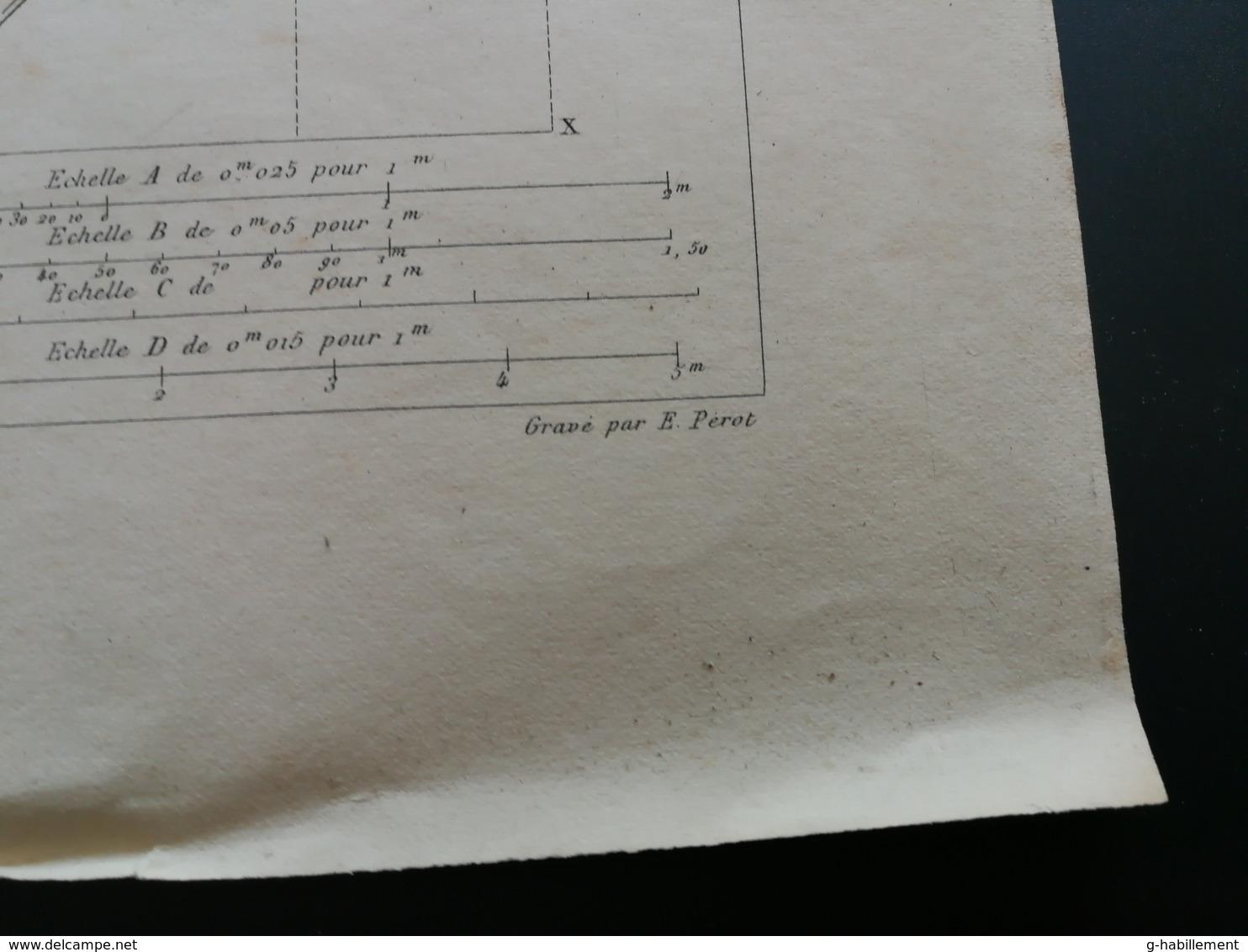 ANNALES DES PONTS Et CHAUSSEES (Dep 92) - Plan D'Ouvrages Des Barrages De La Haute Seine - Graveur E.Pérot 1883 (CLD58) - Cartes Marines