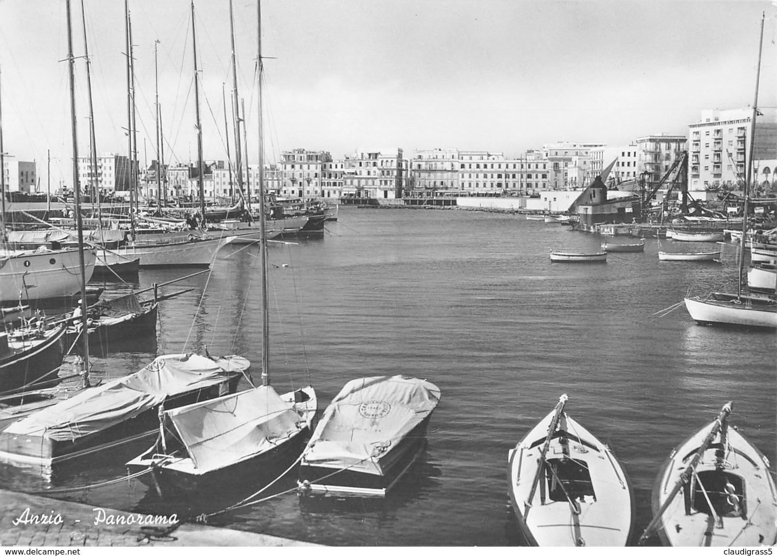 """0398 """"ANZIO (RM) - PANORAMA"""" CART. ORIG. SPED. 1953. - Italia"""