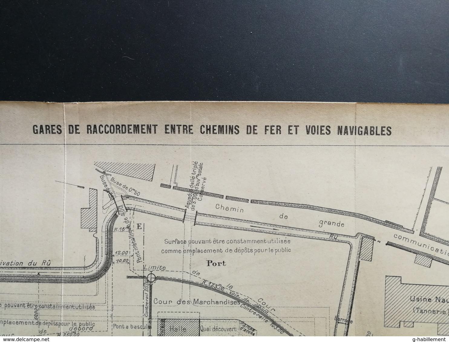 ANNALES DES PONTS Et CHAUSSEES - Plan Des Gares De Raccordement Entre Chemins De Fer Et Voies Navigables - 1903 (CLD72) - Machines
