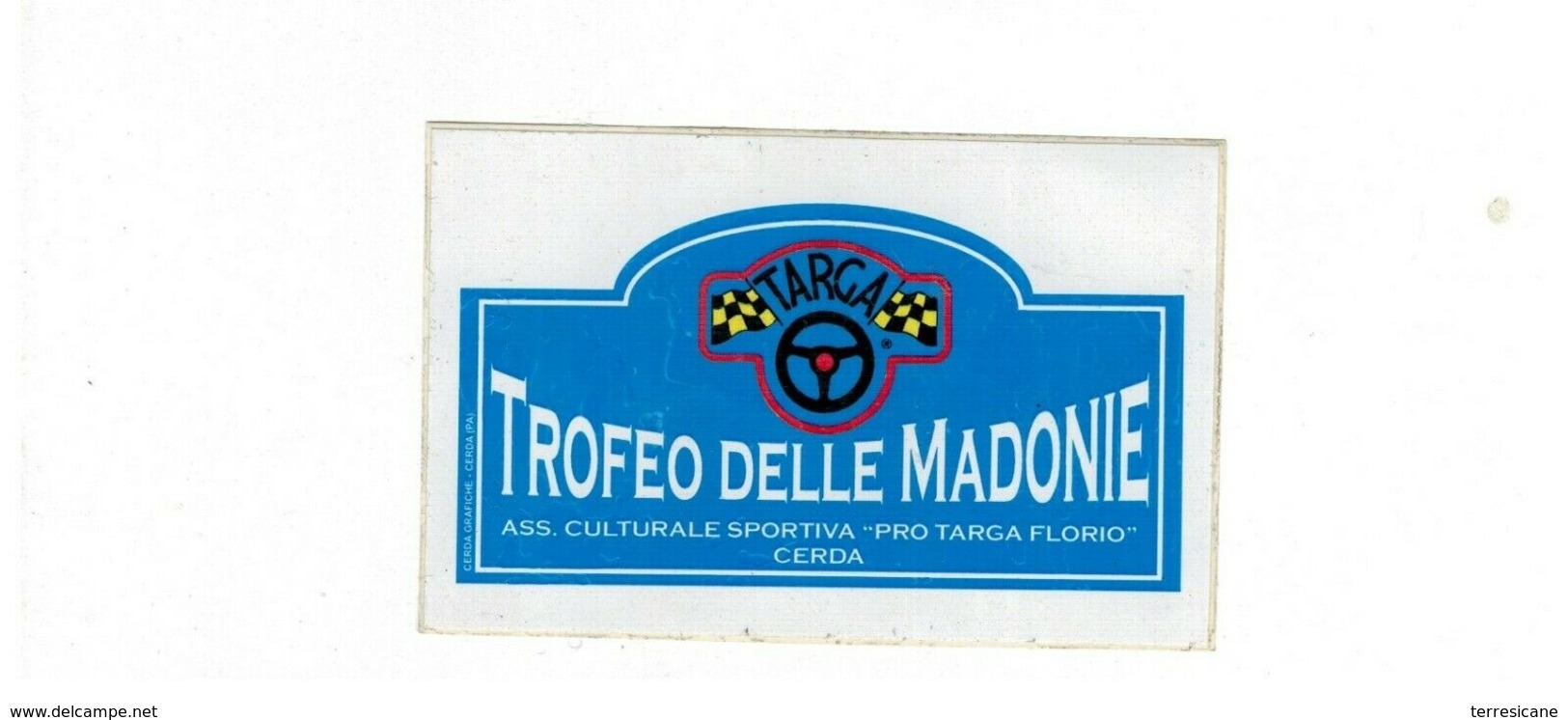 ADESIVO STICKER TROFEO DELLE MADONIE ASS. SPORTIVA PRO TARGA FLORIO RRR - Adesivi