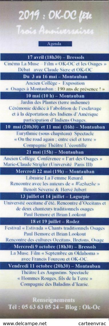 MP 67 RV Marque-Pages Osages à Montauban 190 Ans De Présence ! 2019 OK-OC Fête Trois Anniversaires - Marque-Pages