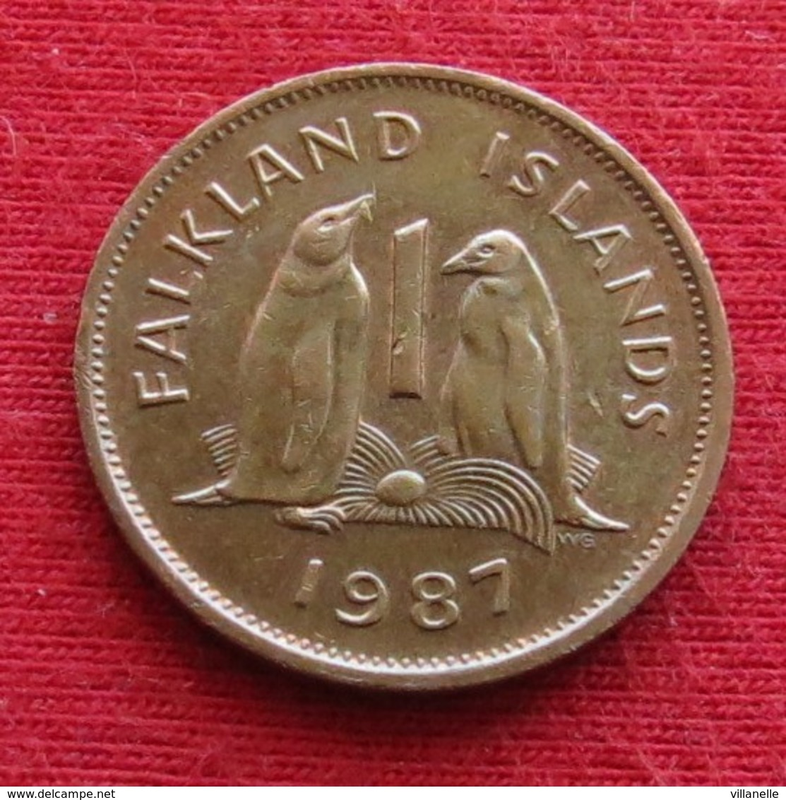 Falkland  Islands 1 One Penny 1987 KM# 2  Lt 700 *V1 Malvinas Malwinen - Falkland Islands