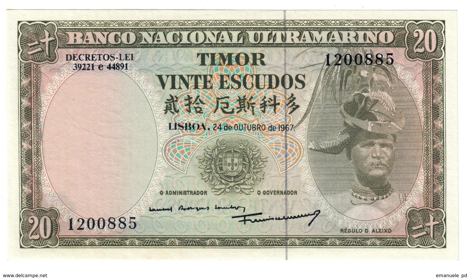 Timor 20 Escudos 1967 UNC .C4. - Timor