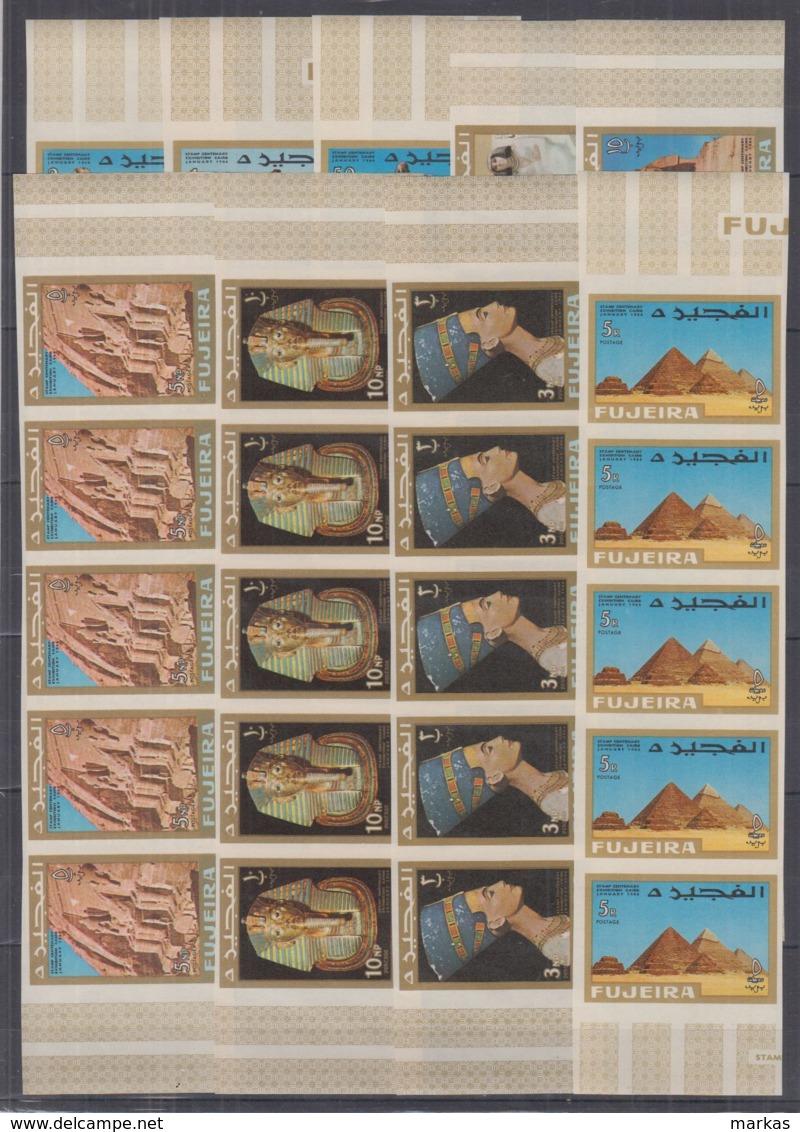 P236. 5x Fujeira - MNH - Architecture - Sculptures - Egypt - Art - Imperf - Architecture
