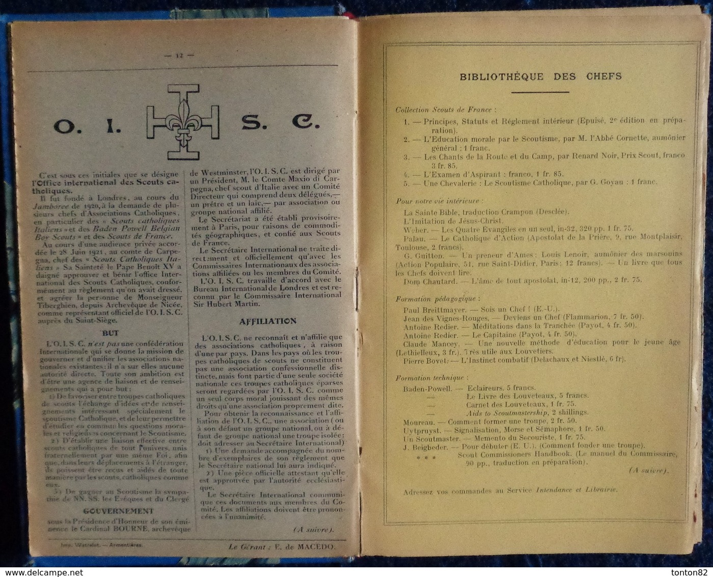 LE CHEF - Revue Du Scoutisme Français - ( Recueil 1922 / 1923 ) . - Bücher, Zeitschriften, Comics