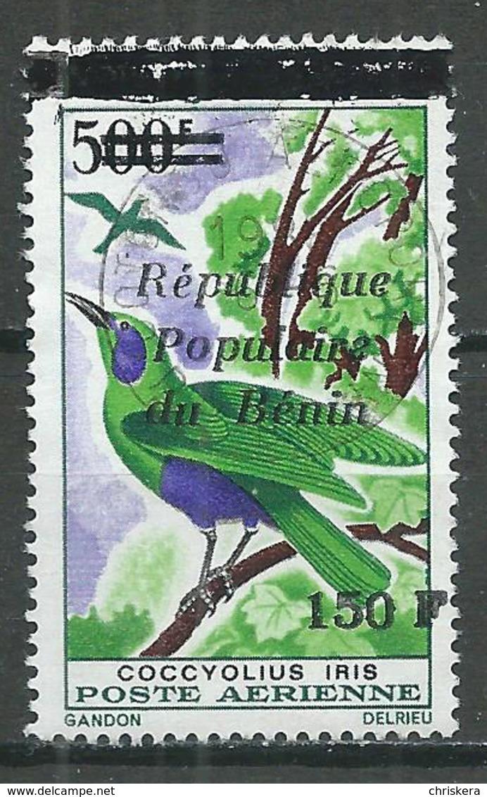 Bénin Poste Aérienne YT N°361 Etourneau Surchargé Oblitéré ° - Bénin – Dahomey (1960-...)