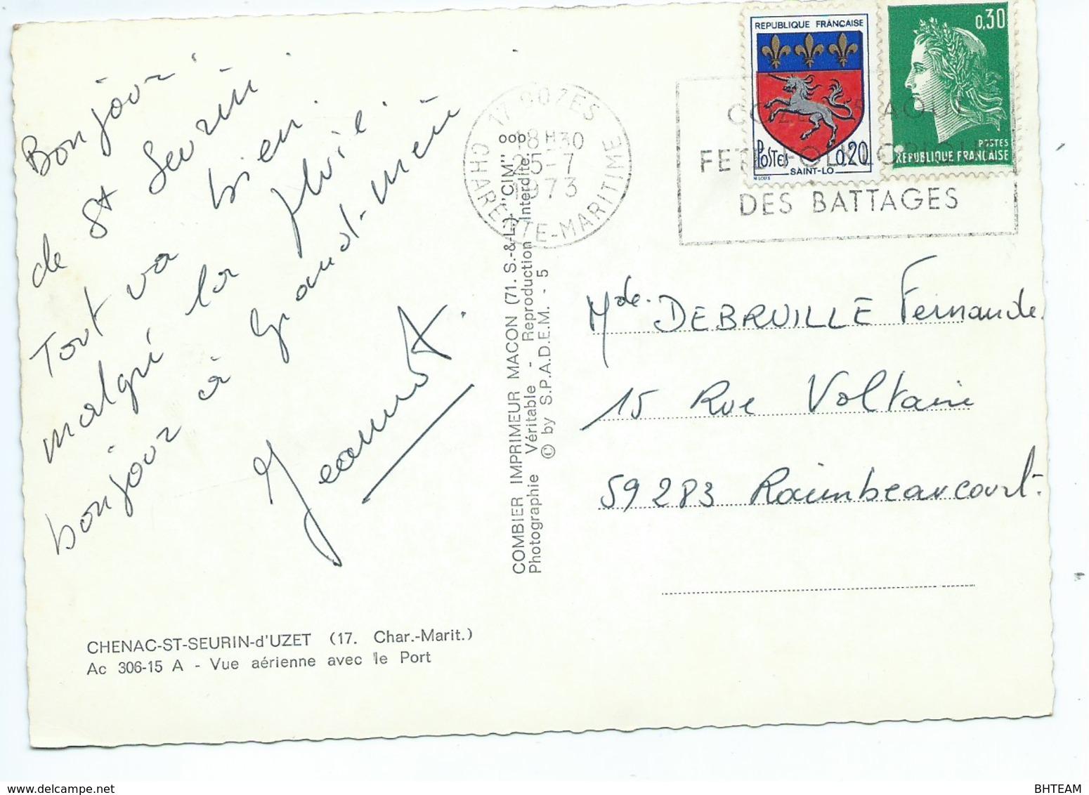 Chenac-St-Seurin-d'Uzet Vue Aérienne Avec Le Port - France