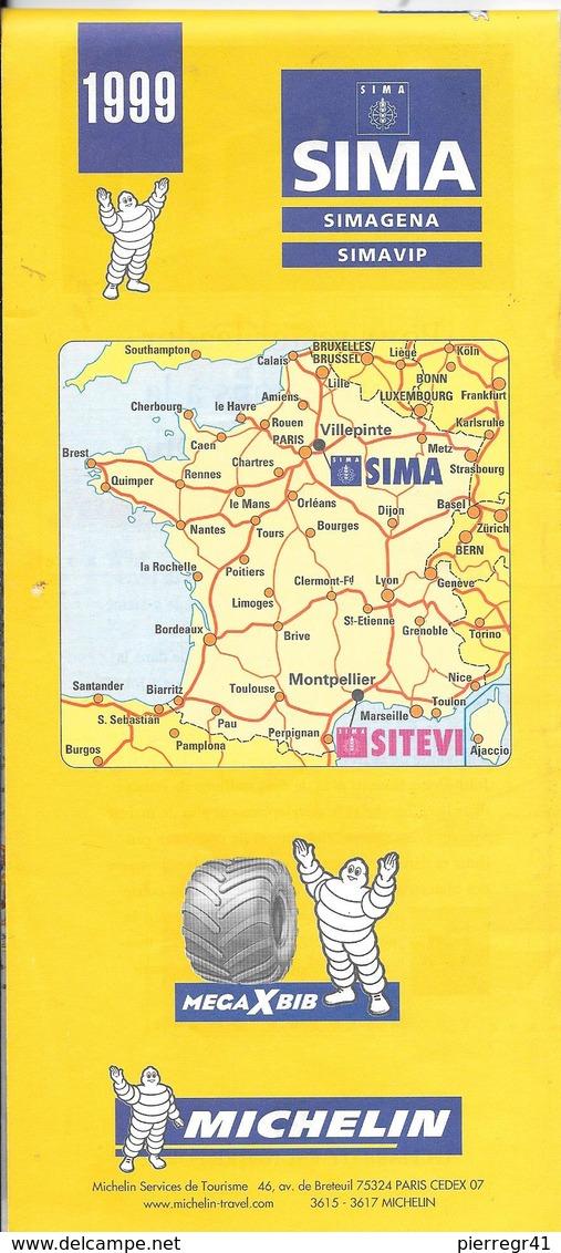 CARTE-ROUTIERE-MICHELIN-N°1999-PARIS-NORD-VLLEPINTE-SALON -SIMA-CARTE FRANCE Et Région PARIS-TBE - Cartes Routières