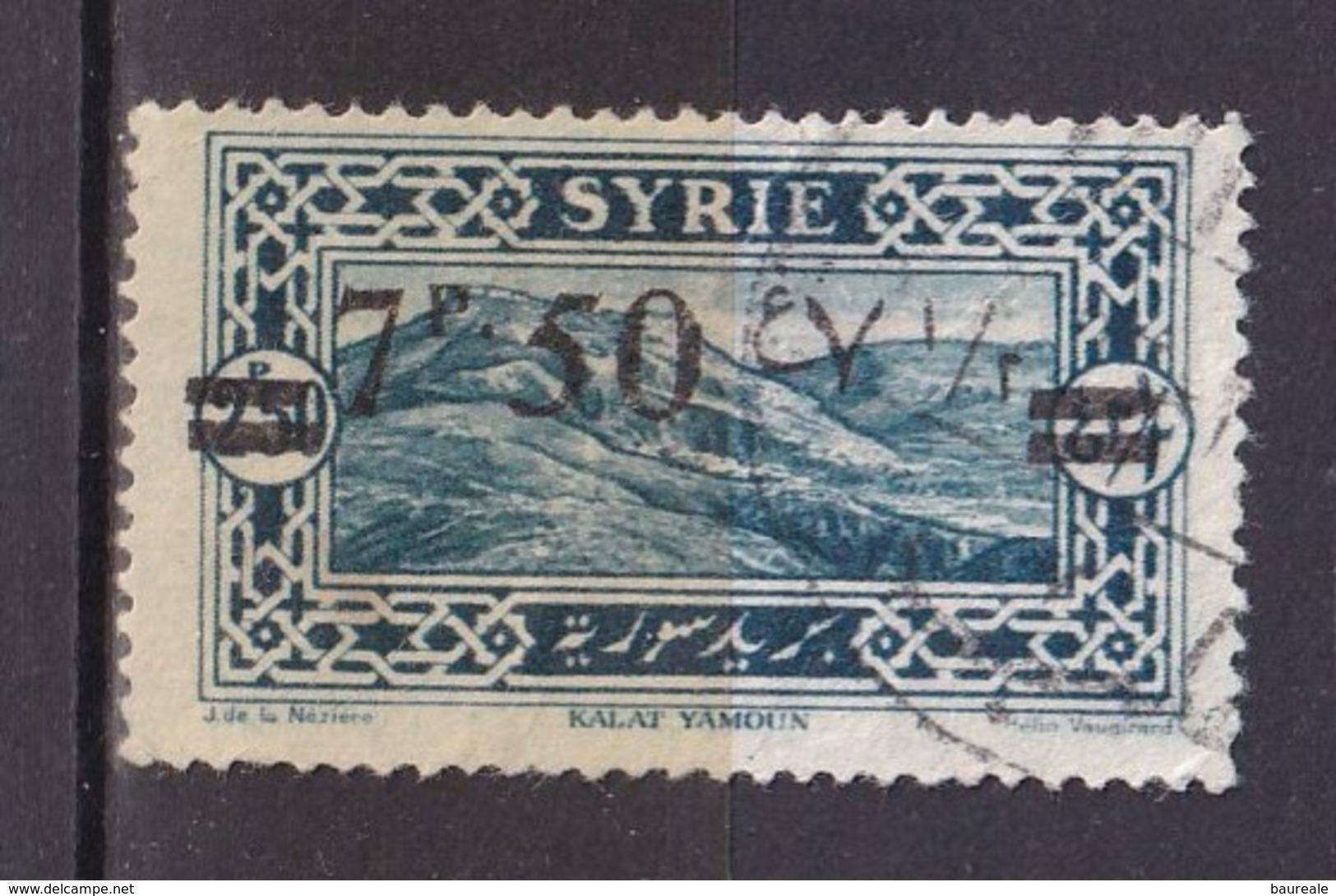 Colonies Françaises - SYRIE -  1926 - Timbre Oblitéré N° YT 182 - Prix Fixe Cote 2017 à 15% - Syrien (1919-1945)