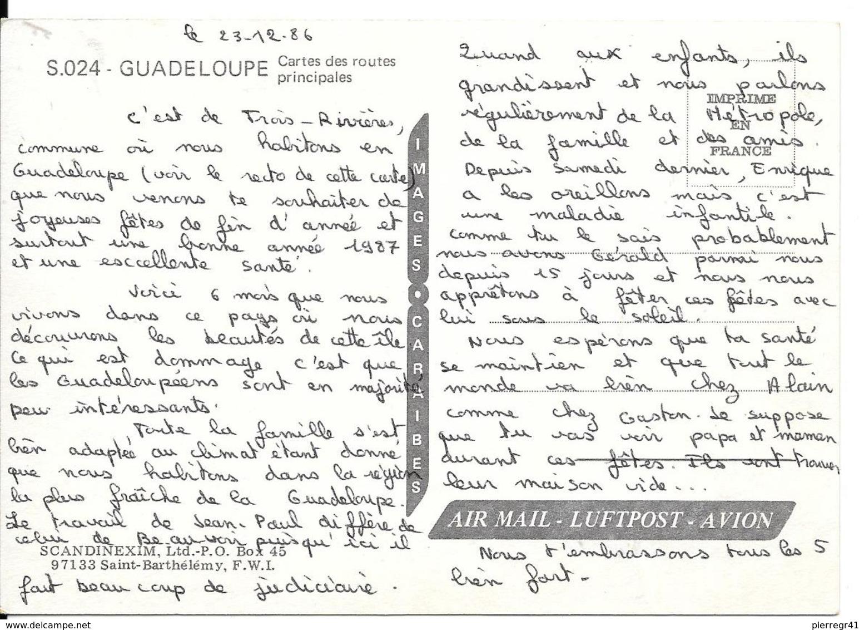 CPM-1980-GUADELOUPE-CARTE DE L ILE-TBE - Basse Terre