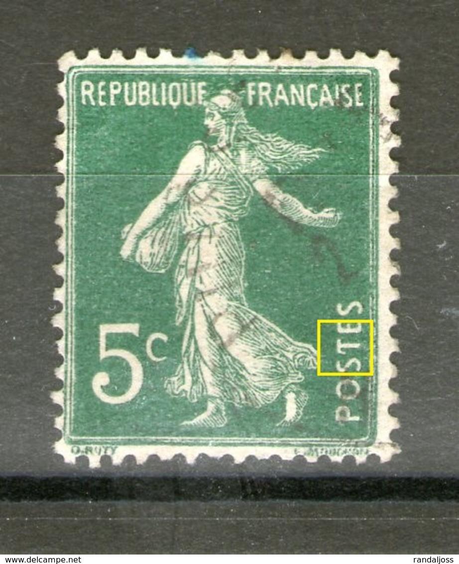 """Rare_N° 137 II°_""""T"""" De Postes Cassé_voir Scans - 1906-38 Sower - Cameo"""