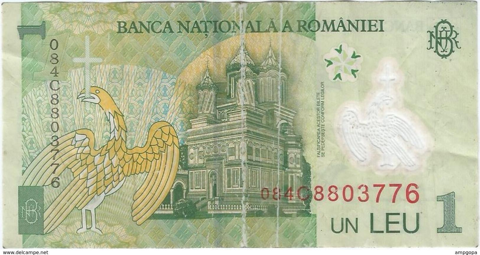 Rumanía - Romania 1 Leu 2008 Pk 117 D - Rumania