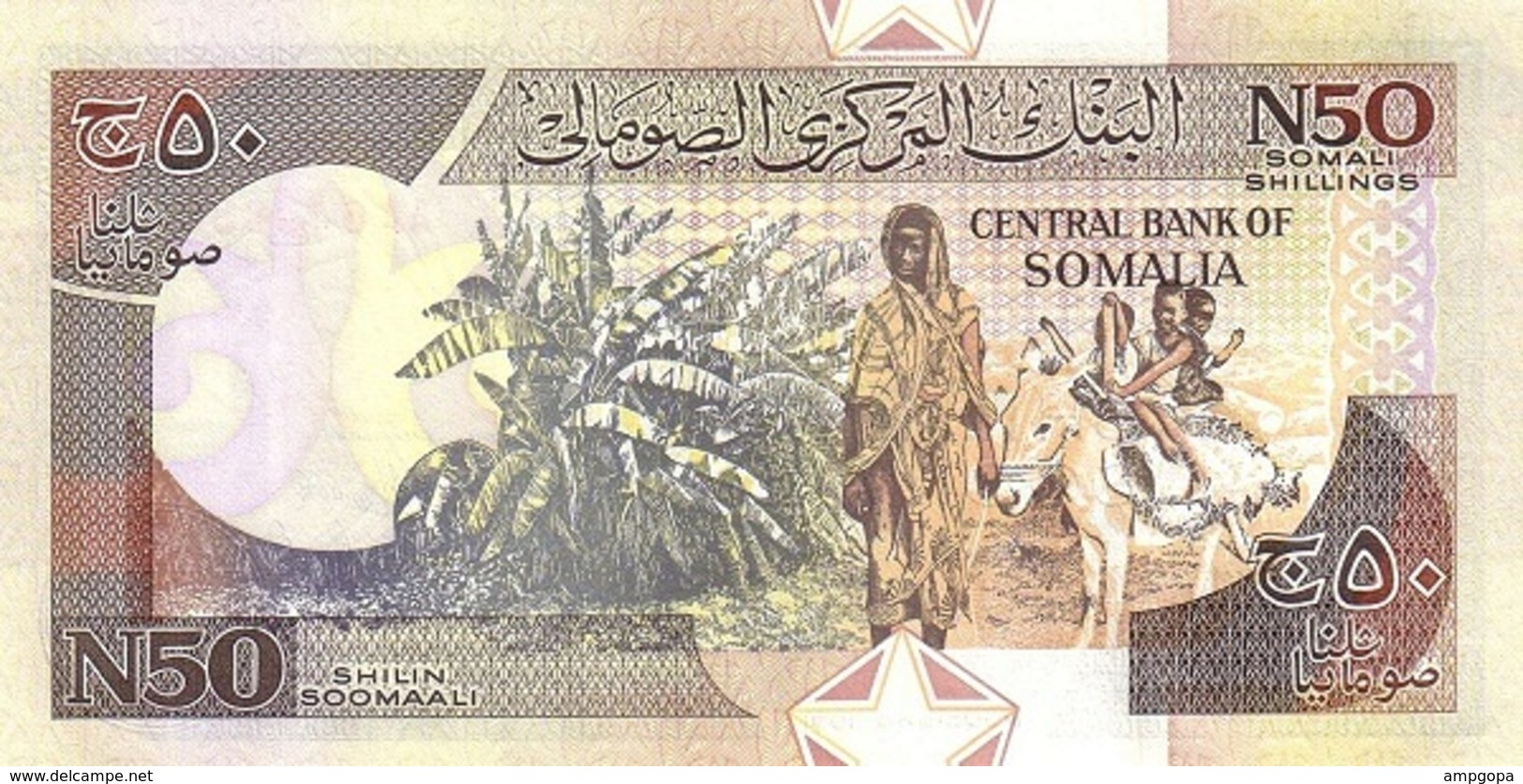 Somalia 50 Shilin 1991 Pk-r 2 UNC - Somalia