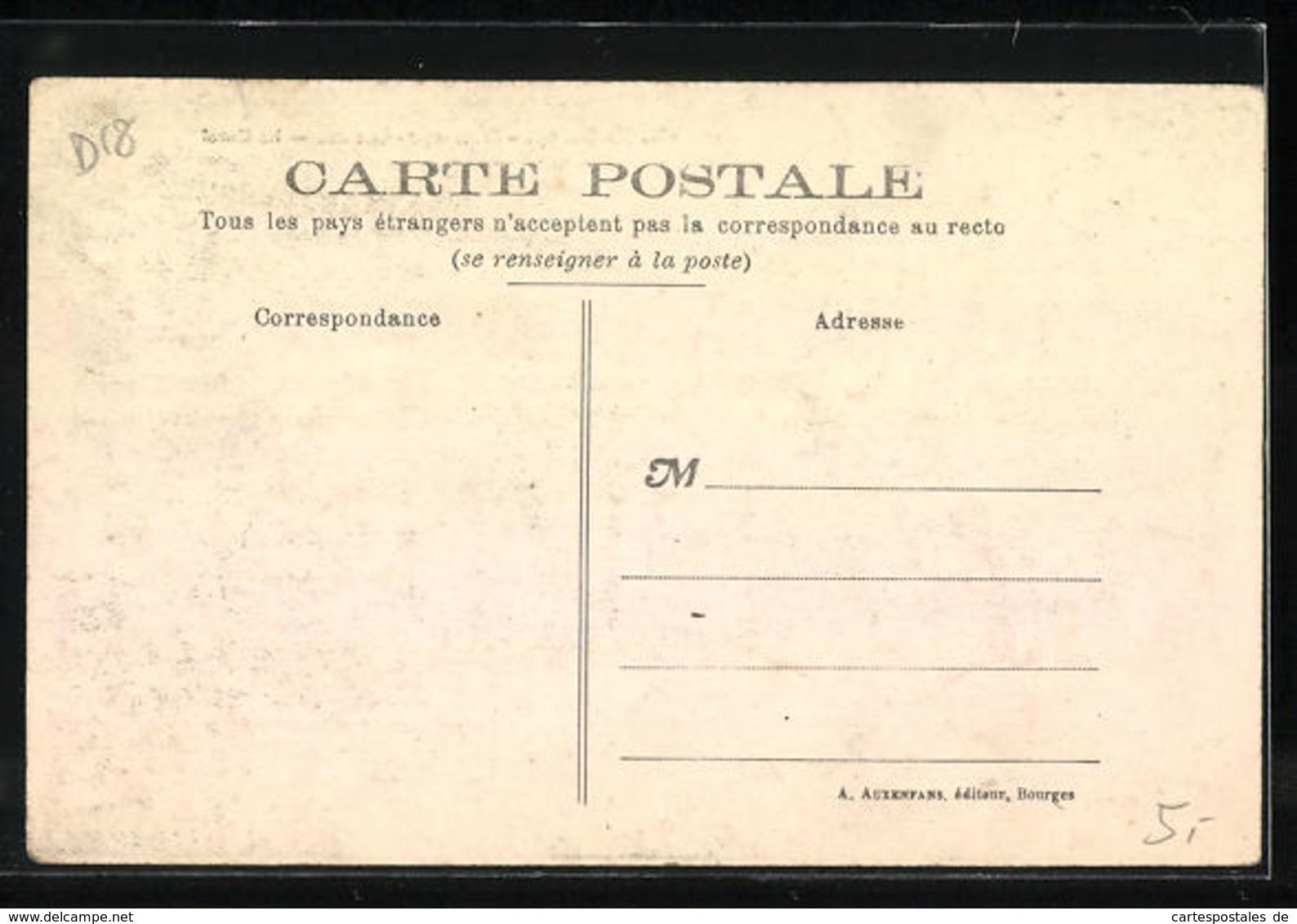 CPA Dun-sur-Auron, Le Canal - Dun-sur-Auron