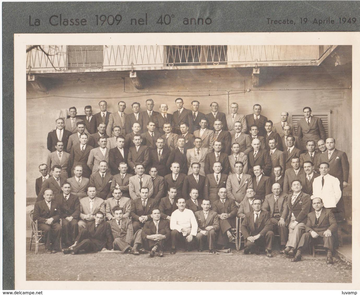 TRECATE (NOVARA) -FOTO ORIGINALE COSCRITTI 1909 (50119) - Persone Identificate