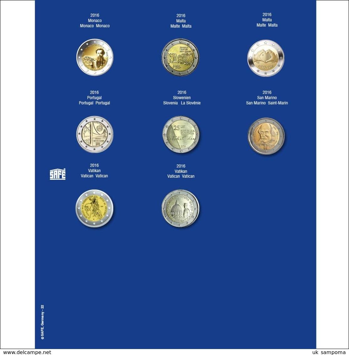 SAFE 7302-22 Ergänzungsblatt F. 2 Euro I. Ds 2016 - Supplies And Equipment
