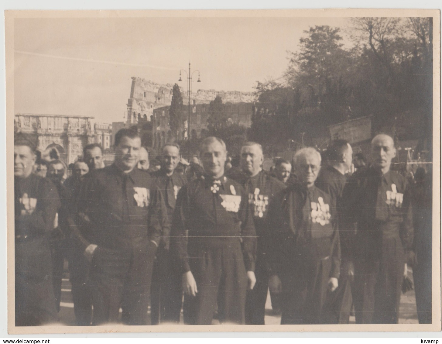 ROMA ADUNATA NASTRO AZZURRO -28 OTTOBRE 1933 -FOTO ORIGINALE (50119) - Persone Identificate