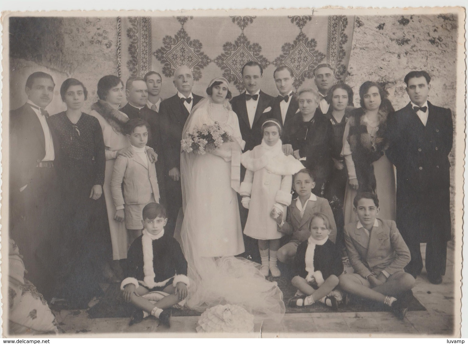 MATRIMONIO -LOCALITà IGNOTA - FOTO ORIGINALE (50119) - Persone Identificate
