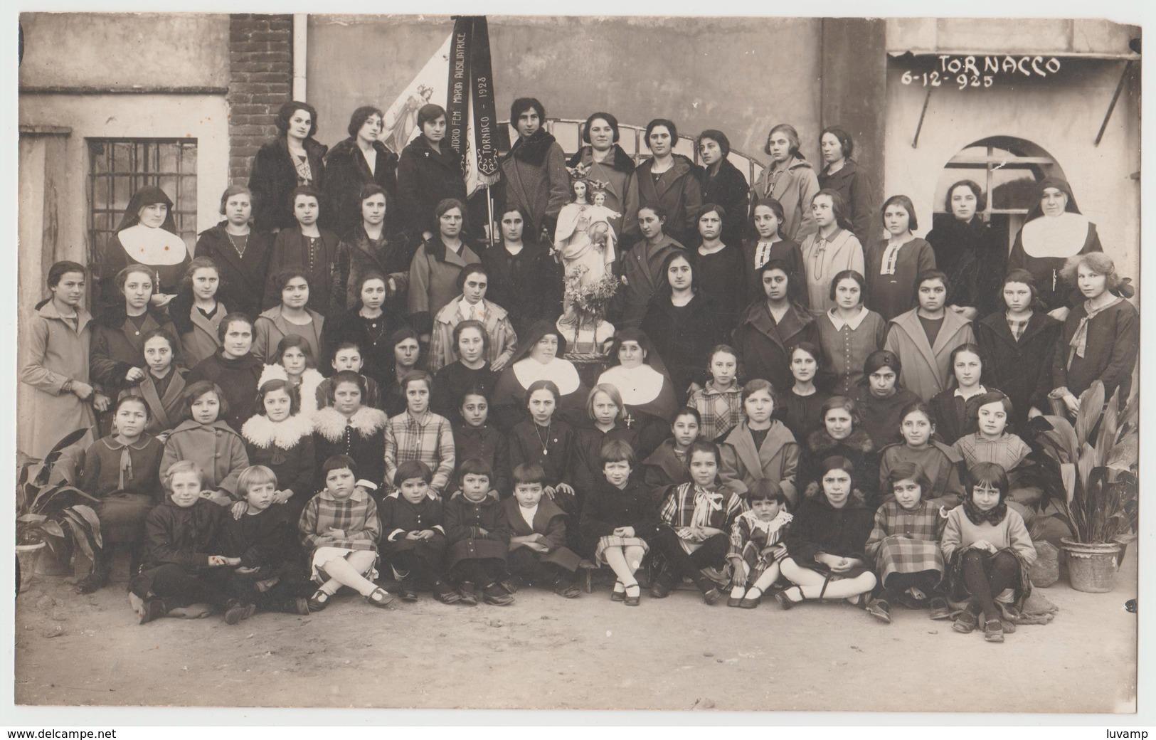 TORNACO (NOVARA) -FOTO ORIGINALE ORATORIO FEMMINILE 6 DIC. 1925 (50119) - Persone Identificate