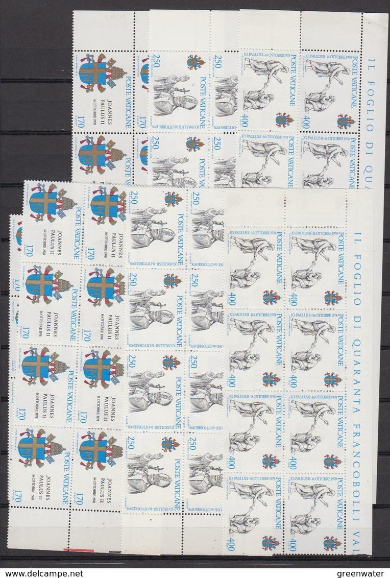 Vatican City 1979 Johannes Paulus II 3v 21x ** Mnh (F7728) - Vaticaanstad
